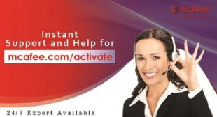 McAfee Activate – Enter Product Key